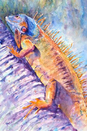 Iguana in Velvet Hues