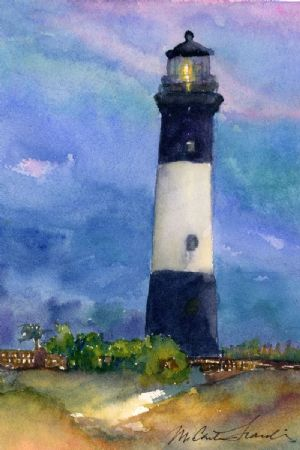 Tybee Lighthouse in Blue