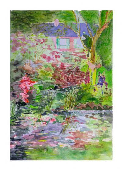 Monet's Pink Home