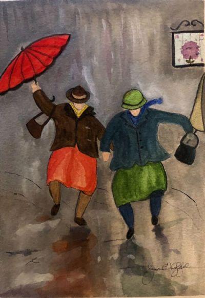 Sophie & Sandy Dancing in the Rain