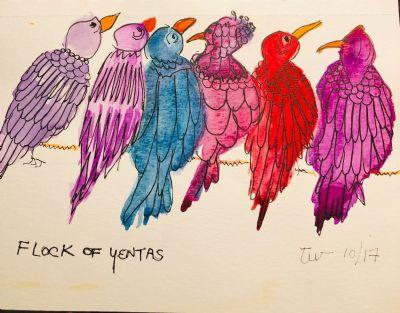Yentas (Birds)  on a Wire