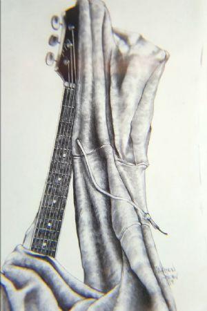 Guitar and Sweatshirt