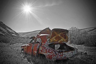 Rock creek car ruins